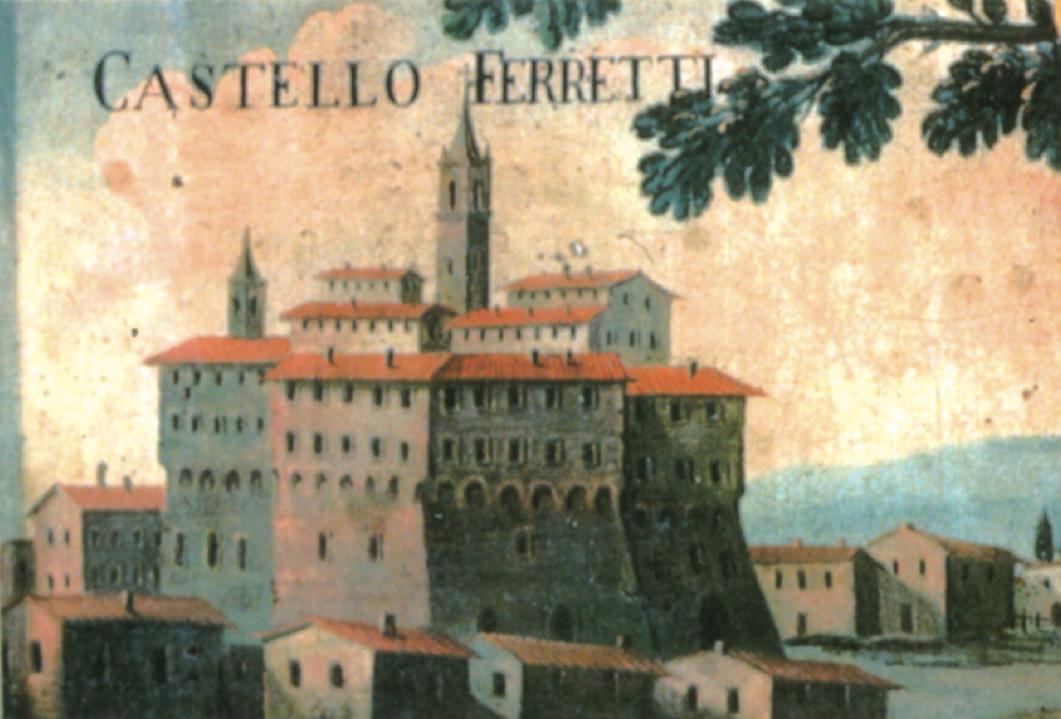Castello dei Ferretti, particolare dell'Albero genealogico della Famiglia, Ancona, Museo della Città.
