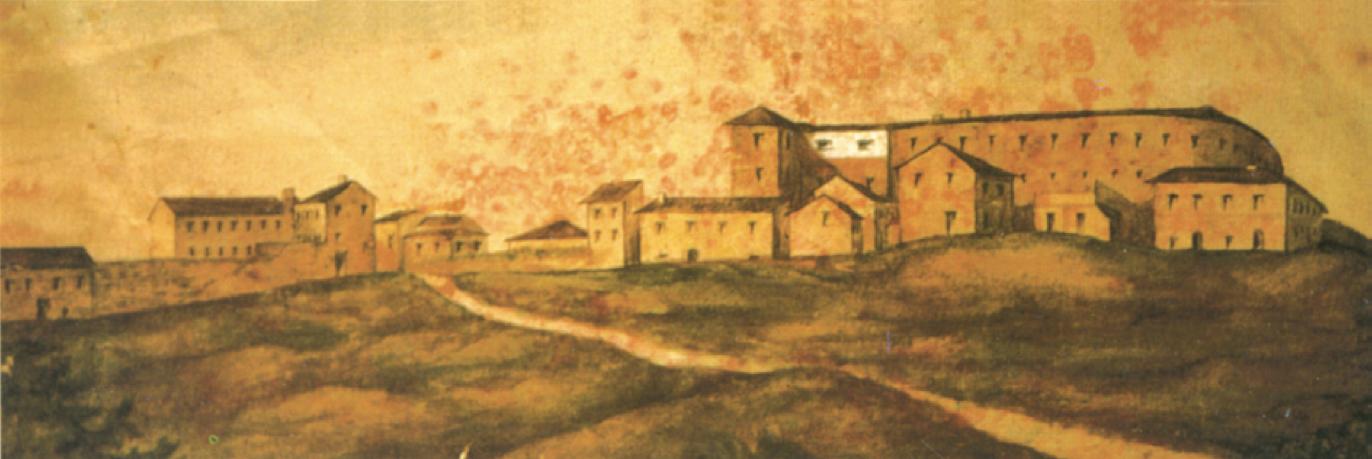 Castello di Falconara, disegno del secolo XIX, collezione privata.